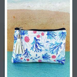 Handbags - Coral Tassel Wristlet